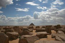 Free The Bent Pyramid On The Horizon Of The Desert Stock Photos - 17655243