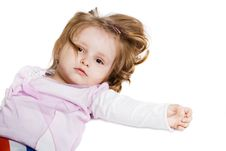 Free Little Girl Lying On The Floor Stock Photography - 17655382