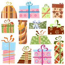 Free Gift Set Vector Stock Photography - 17655522