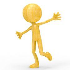 Free Wood Guy Hug Stock Image - 17655811
