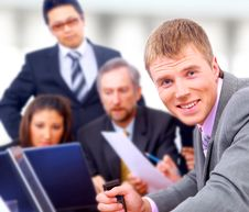 Smiling Business People Team Royalty Free Stock Images