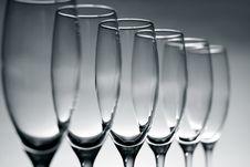 Free Empty Champagne Glasses Stock Photo - 17656760