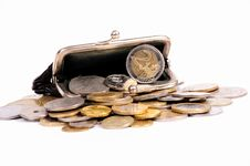 Free Purse With Coins Stock Photo - 17657230