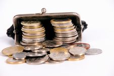 Free Purse With Coins Stock Image - 17657401