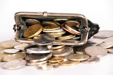 Free Purse With Coins Stock Photography - 17657432