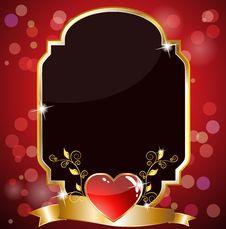 Royal Heart Card Royalty Free Stock Photo