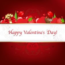 Free Valentines Day Card. Vector Stock Images - 17657804