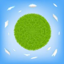 Free Green Planet. Vector Royalty Free Stock Photos - 17657808