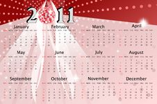 Calendar Of 2011 Stock Image