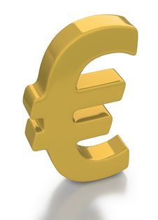 Free Gold Euro Currency Symbol Royalty Free Stock Photo - 17658805