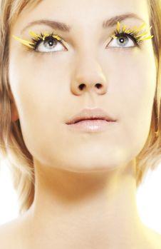Free Woman Wearing Petal Eyelashes Royalty Free Stock Photos - 17658848