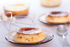 Vanilla Flan Royalty Free Stock Photos