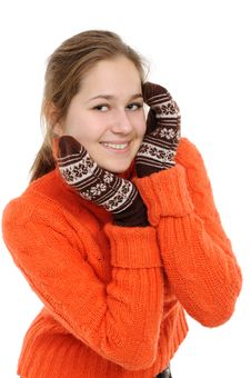 Free Winter Young Woman Royalty Free Stock Photo - 17659025