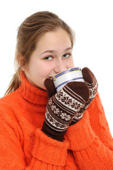 Free Winter Young Woman Stock Images - 17659034