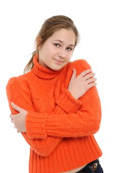 Free Winter Young Woman Royalty Free Stock Images - 17659039