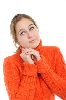 Free Winter Young Woman Royalty Free Stock Photo - 17659045