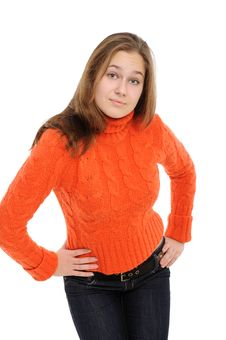 Free Winter Young Woman Royalty Free Stock Photography - 17659047