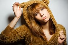 Free Red-bearded Winter Sweater Woman Royalty Free Stock Image - 17659116