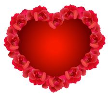 Free Red Rose Hearts Stock Photo - 17659680