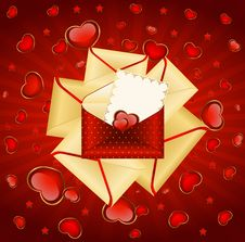 Free Envelopes With Red Hearts Stock Photos - 17659703
