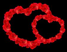 Free Red Rose Hearts Stock Photo - 17659710