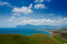 Free Summer Landscape With The Sea And Mountains Stock Photos - 17659753