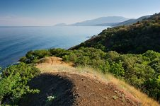 Free Summer Landscape With The Sea And Mountains Stock Photos - 17659803