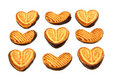 Free Cookies In The Form Of Heart With Chocolate Royalty Free Stock Photo - 17664565