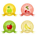 Free Fruity Tags Royalty Free Stock Photo - 17665635