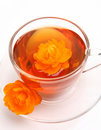 Free Cup With Tea And A Flower Stock Images - 17668404