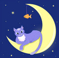 Free The Cat Lies On A Half Moon. Stock Photos - 17669573
