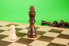 Free Chess Piece On Green Background Royalty Free Stock Photos - 17662078