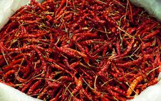 Free Red Chili Dry Royalty Free Stock Image - 17662136