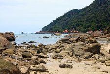 Free Resort Near The Beach On A Tropical Island Royalty Free Stock Photos - 17662488
