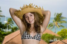 Free Teenager In Front Of A Holiday Resort Stock Images - 17662844