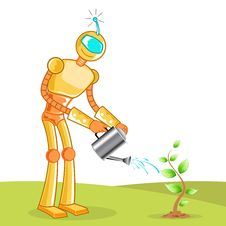 Free Robot Gardening Royalty Free Stock Photo - 17663005