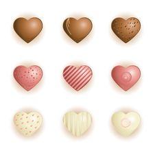 Free Heart Shape Chocolate Royalty Free Stock Photo - 17663075
