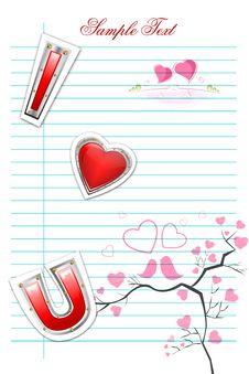 Free Valentine Card Royalty Free Stock Image - 17663136