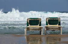 Free Beach Loungers Stock Photos - 17663793