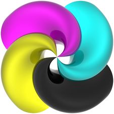 Free Spiral CMYK Stock Photography - 17663812