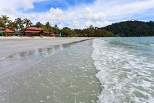 Resort Near The Beach On A Tropical Island Royalty Free Stock Photography