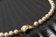 Free Pearl Necklace Fragment Royalty Free Stock Photo - 17664365