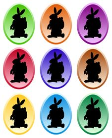 Free Gradient Colored Easter Eggs Royalty Free Stock Photo - 17664535