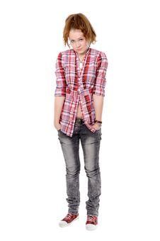 Free Portrait Of A Beautiful Teenager Stock Photo - 17664850