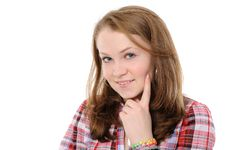 Free Portrait Of A Beautiful Teenager Stock Image - 17664851
