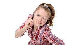 Free Girl Using A Mobile Phone Stock Photos - 17664853