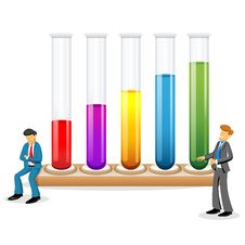 Free Scientists With Test Tubes Stock Images - 17665494