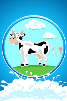 Free Happy Cow Royalty Free Stock Images - 17665499