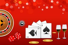 Free Casino Card Royalty Free Stock Photography - 17665607