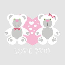 Free Love Card Teddy Stock Image - 17666031